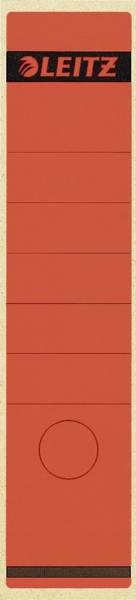 1640 Rückenschilder Papier, lang breit, 10 Stück, rot