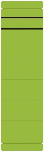 Ordner Rückenschilder breit kurz, 10 Stück, grün