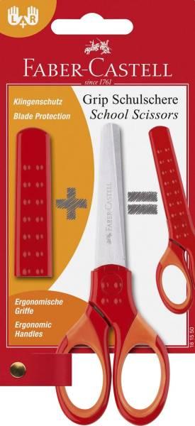 FABER CASTELL Schulschere GRIP rot 181550