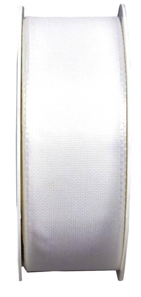 Basic Taftband 40 mm x 50 m, weiß