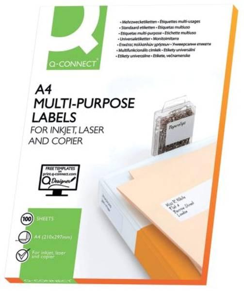 Inkjet+Laser+Kopier Etiketten 66,0x33,9 mm, weiß, 2400 Stück 100