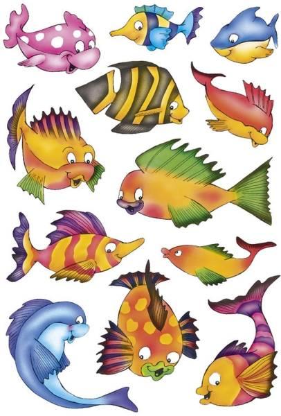 3524 Sticker DECOR Bunte Fische