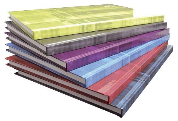 Notizbuch A4, 96Blatt, kariert, farbig sortiert