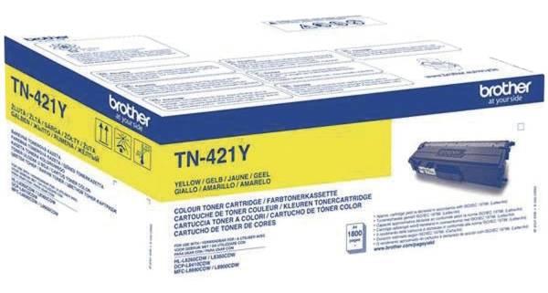 BROTHER Lasertoner yellow TN421Y