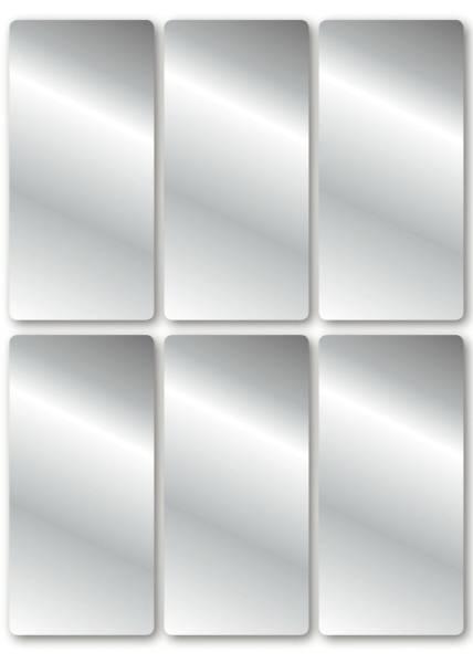 15285 Schmucketikett 26 x 54 mm, 18 Stück, silber