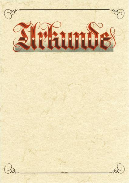 RNK Urkundenvordruck Neutral A4 2855