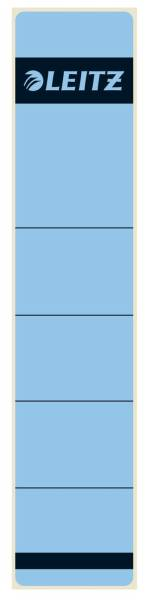 1643 Rückenschilder Papier, kurz schmal, 10 Stück, blau