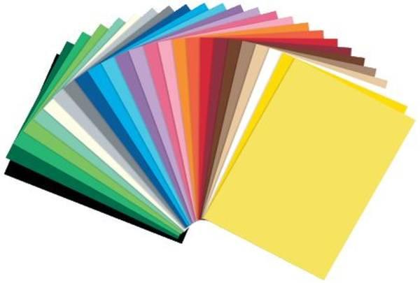 Fotokarton A4, 25 Farben sortiert, 50 Blatt
