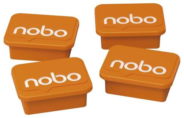 NOBO Magnet 4ST eckig 18x22mm orange 1905327