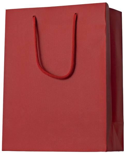 Geschenktragetasche Uni rot klein