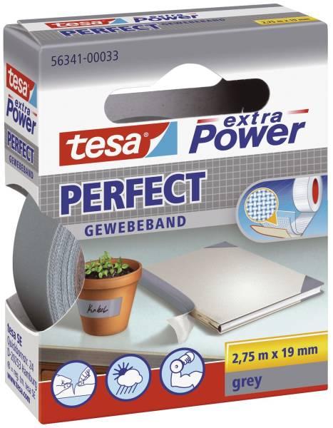 TESA Gewebeband 19mmx2,75m grau 56341-00033-03