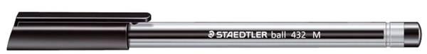 STAEDTLER Kugelschreiber ball 432 M sw 432 M-9 schwarz