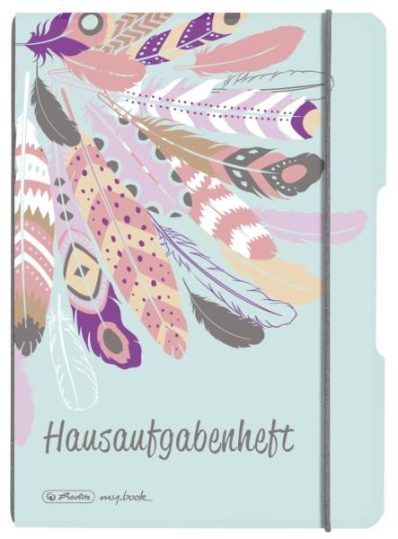 HERLITZ Hausaufgabenheft A5/48BL Feather 50022250 kariert