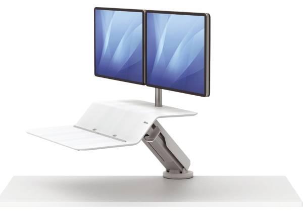 FELLOWES Bildschirmträger für 2 Monitore weiß FW8081801