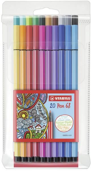 STABILO Fasermaler Pen 68 Etui 20 Stück 6820/PL