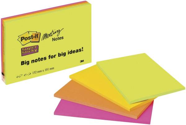 Meeting Notes Neon 149 x 98,4mm, 4 x 45 Blatt