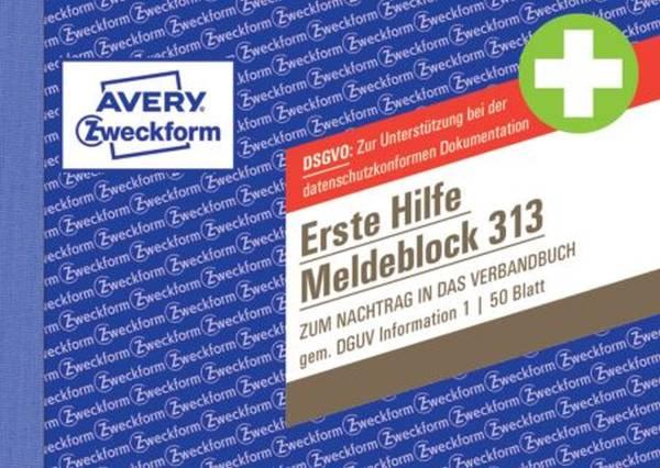 AVERY ZWECKFORM Meldeblock Erste Hilfe A6q 50BL 313