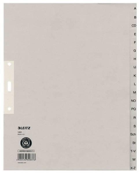 1201 Register A Z, Papier, A4 Überbreite, 20 Blatt, grau