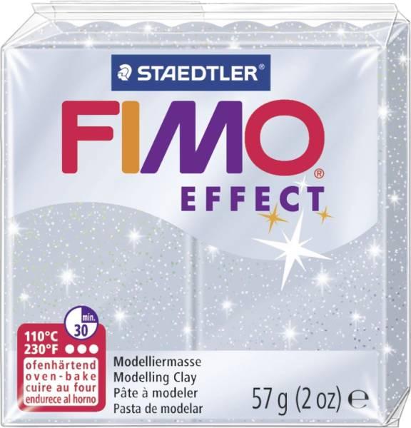 Modelliermasse FIMO soft 56 g, glitter silber®