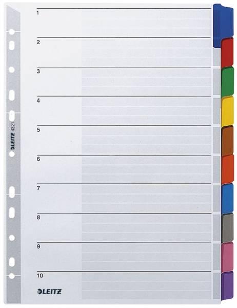 4321 Register blanko, Karton, A4, 10 Blatt, Taben 10 farbig