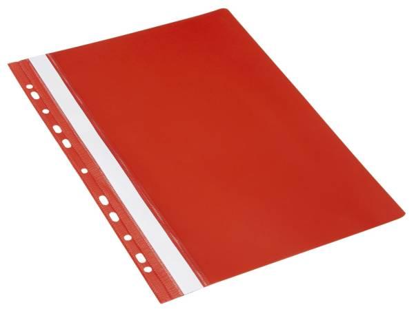 Schnellhefter A4, Multilochung, PVC, rot