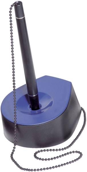 Kugelschreiberständer SALSA Kette, schwarz blau
