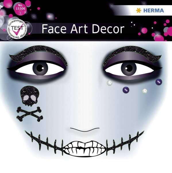 Sticker Face Art Pirat