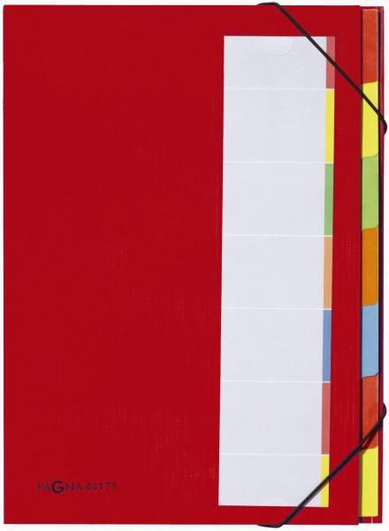 Deskorganizer mit 7 Fächern, rot