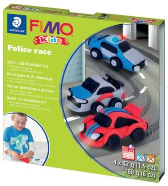 STAEDTLER Modellierset FIMO Kids Police Race ST8034 29 LY