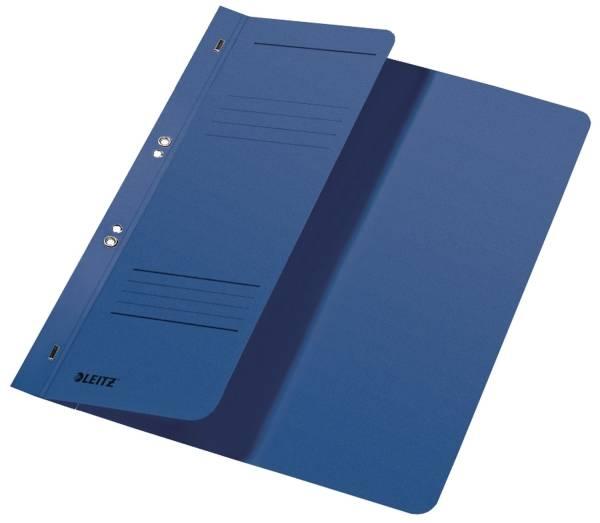 3740 Ösenhefter, 1 2 Vorderdeckel, A4, kfm Heftung, Manilakarton, blau