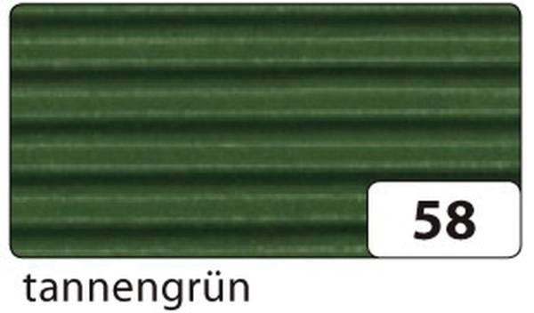 Bastelwellpappe 50 x 70 cm, tannengrün