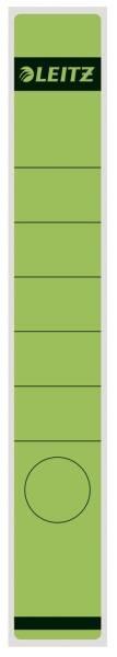 1648 Rückenschilder Papier, lang schmal, 10 Stück, grün