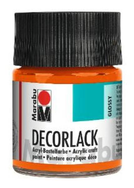 Decorlack Acryl, Orange 013, 50 ml