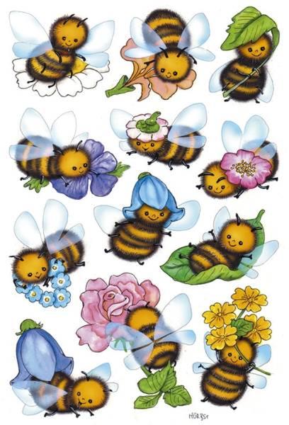 3569 Sticker DECOR Lustige Bienen