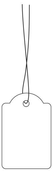 HERMA Hängeetiketten 25x38 mm weiß 6925 m. weißem Faden 1000 Stück