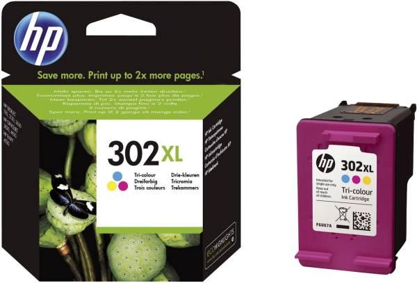 HP Inkjetpatrone Nr. 302XL 3-färbig F6U67AE