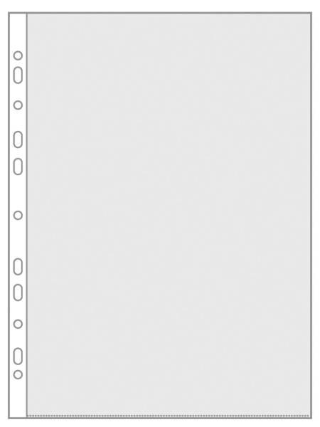 Prospekthülle (mit Lochung), links und oben offen, A4, PP, matt, 0,08 mm, farblos