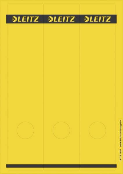 1687 PC beschriftbare Rückenschilder Papier, lang breit, 75 Stück, gelb