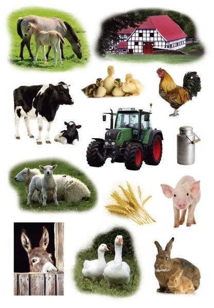 3358 Sticker DECOR Bauernhoftiere