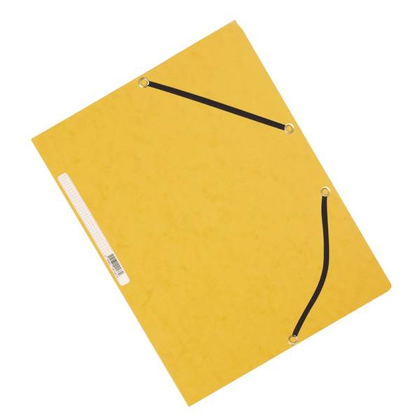 Eckspanner Karton A4 mit Gummizug gelb