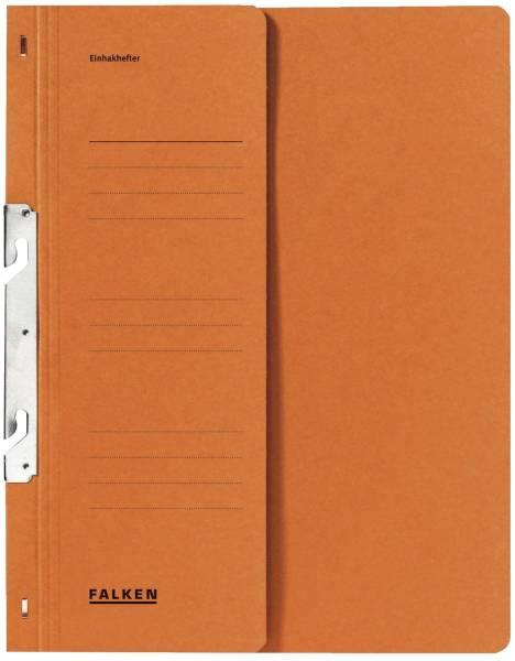 Einhakhefter A4 1 2 Vorderdeckel kfm Heftung, orange, Manilakarton, 250 g qm
