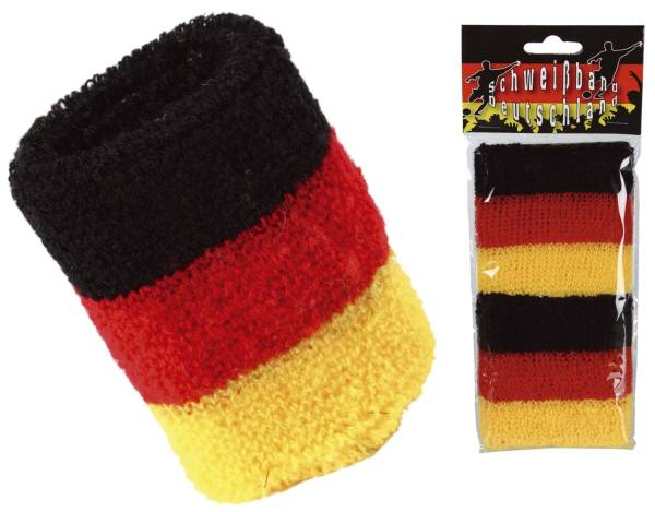 """Schweißband """"Deutschlandflagge"""" 2 Stück"""