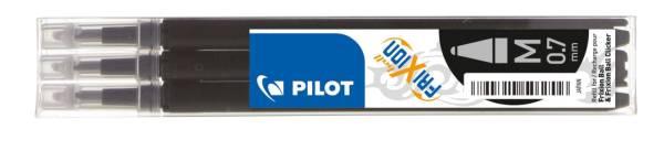 PILOT Tintenrollermine Frixion 0,4mm 3ST schwa BLS-FR7-B-S3 2261001F