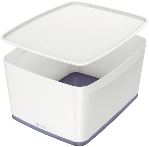 5216 Aufbewahrungsbox MyBox Groß A4, mit Deckel, ABS, weiß grau