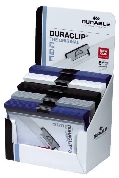 DURABLE Klemmmappe Duraclip A4 sort 298500 50St im Display