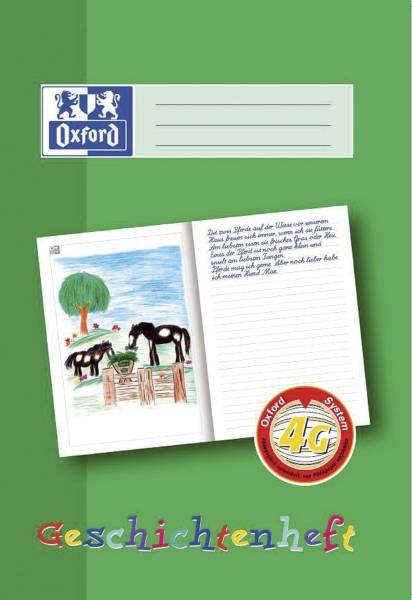 Schreiblernheft LIN 4G A4, 16 Blatt, 90g qm, Geschichtenheft
