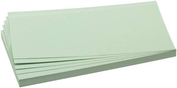 Moderationskarten selbsthaftend, rechteckig, 20,5 x 9,5 cm, grün, 100 Stück