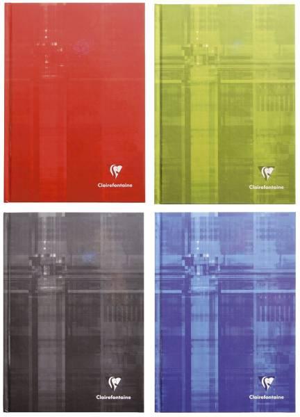 Notizbuch A5, 96 Blatt, kariert, farbig sortiert