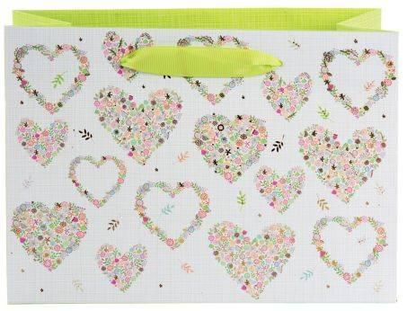 TURNOWSKY Geschenktragetasche Flowers in the Heart 46 282 25x18x10cm