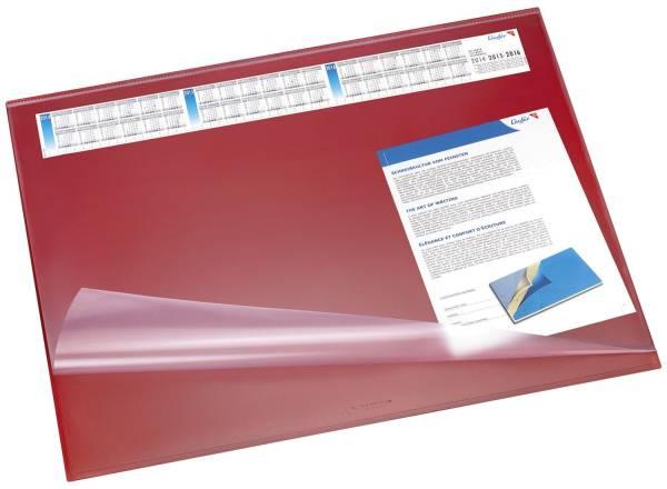 Schreibunterlage SYNTHOS 65 x 52 cm,rot, Vollsichtauflage